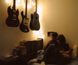 couple, guitar, and forever image