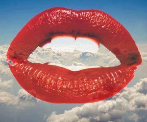 lips, sky, and red image