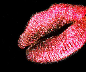 glitter, pink, and kiss image