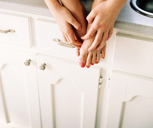 girl, nails, and legs image