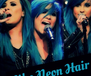 blue, demi lovato, and hair image