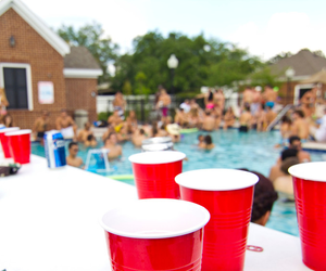 party, pool, and cigarette image