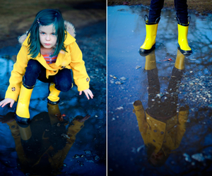 coraline, girl, and hairblue image