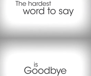 hurt and goodbye image