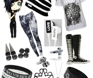 clothes, black veil brides, and bvb image