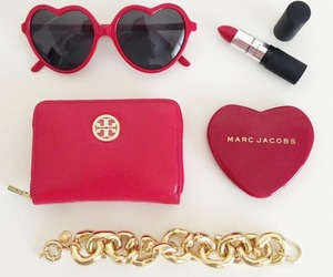 bracelet, fashion, and red image