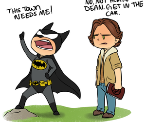 supernatural, batman, and dean image