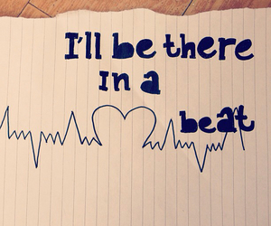 beat, heart, and heartbeat image