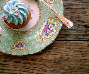 cupcake, sweet, and blue image