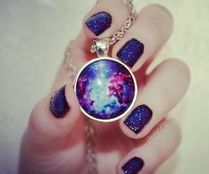 nails, galaxy, and necklace image