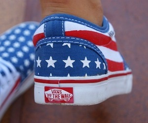 vans, shoes, and usa image