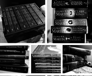 black and white, books, and harry potter image
