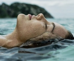 water, girl, and sea image
