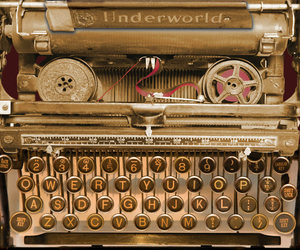 typewriter and love image