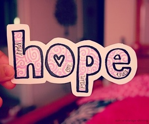 hope, pink, and heart image