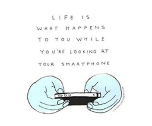 life, quote, and smartphone image