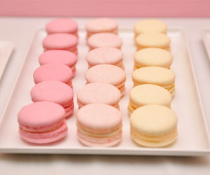 macarons, food, and pink image