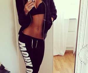 abs, Hot, and workout image