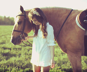 horse and girl image