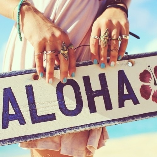 Aloha, summer, and beach image