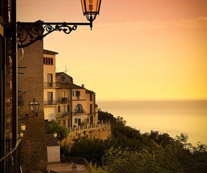 italy, sky, and sunset image