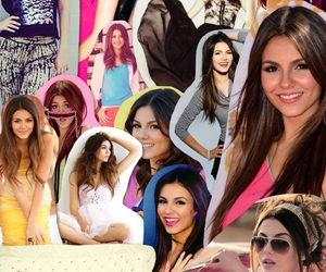 Collage, pink, and victoria justice image