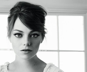emma stone, black and white, and beauty image