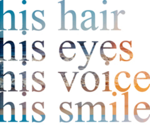 eyes, hair, and smile image