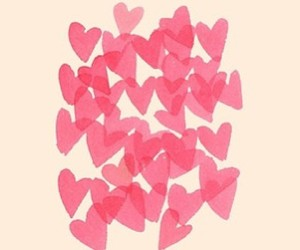 hearts, love, and background image