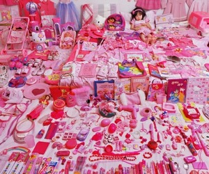 pink, hello kitty, and toys image