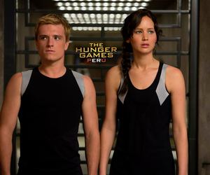 peeta, catching fire, and the hunger games image
