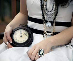 clock, black, and dress image