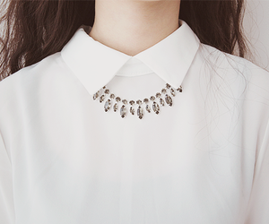 white, necklace, and collar image