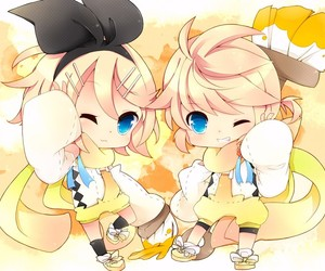 chibi, vocaloid, and kagamine image