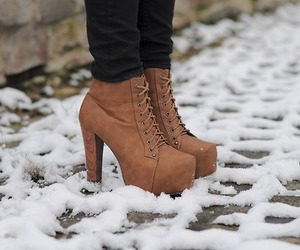 shoes, fashion, and snow image