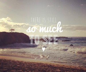 travel, quotes, and beach image