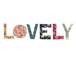 lovely, flowers, and text image