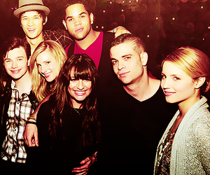 glee, lea michele, and dianna agron image