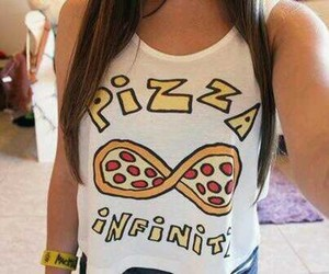 pizza, infinity, and food image