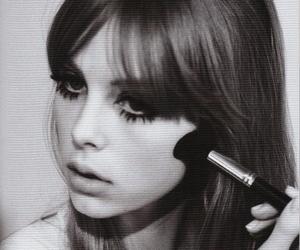 girl, black and white, and makeup image