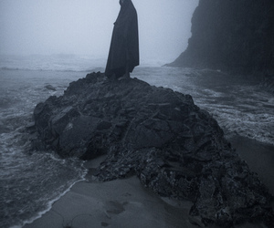 black and white, grief, and grim reaper image