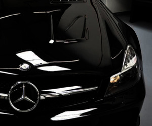 black, interior, and mercedes image