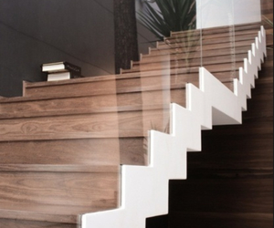 house, stairs, and wood image