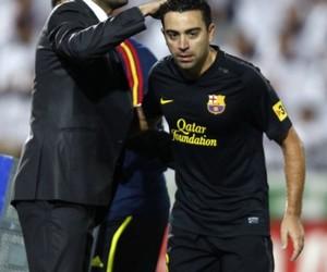 fc barcelona, pep guardiola, and xavi hernandez image