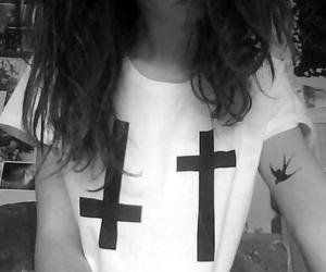 bird, girl, and tattoo image