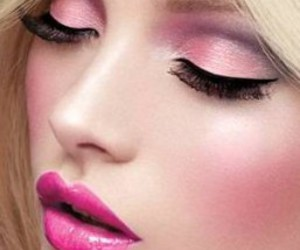pink, makeup, and barbie image