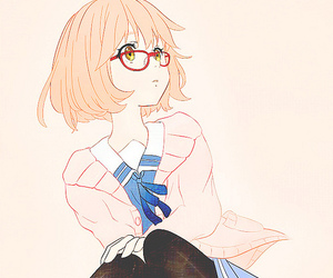 anime, kyoukai no kanata, and kawaii image