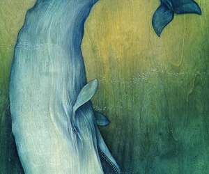 whale, art, and ocean image