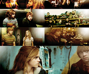 hermione, granger, and ron image