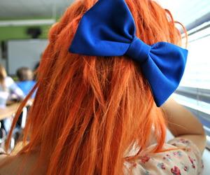girl, orange, and redhead image